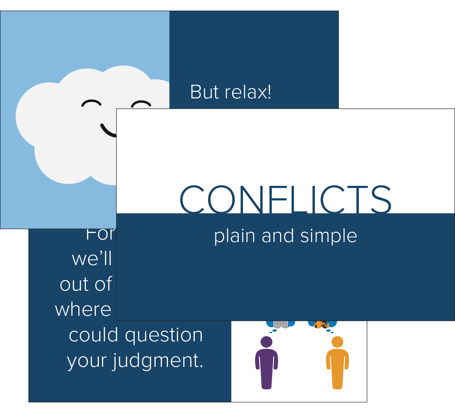 Preview of a Conflicts-of-Interest deck, provided by Broadcat. Download it now, for free!