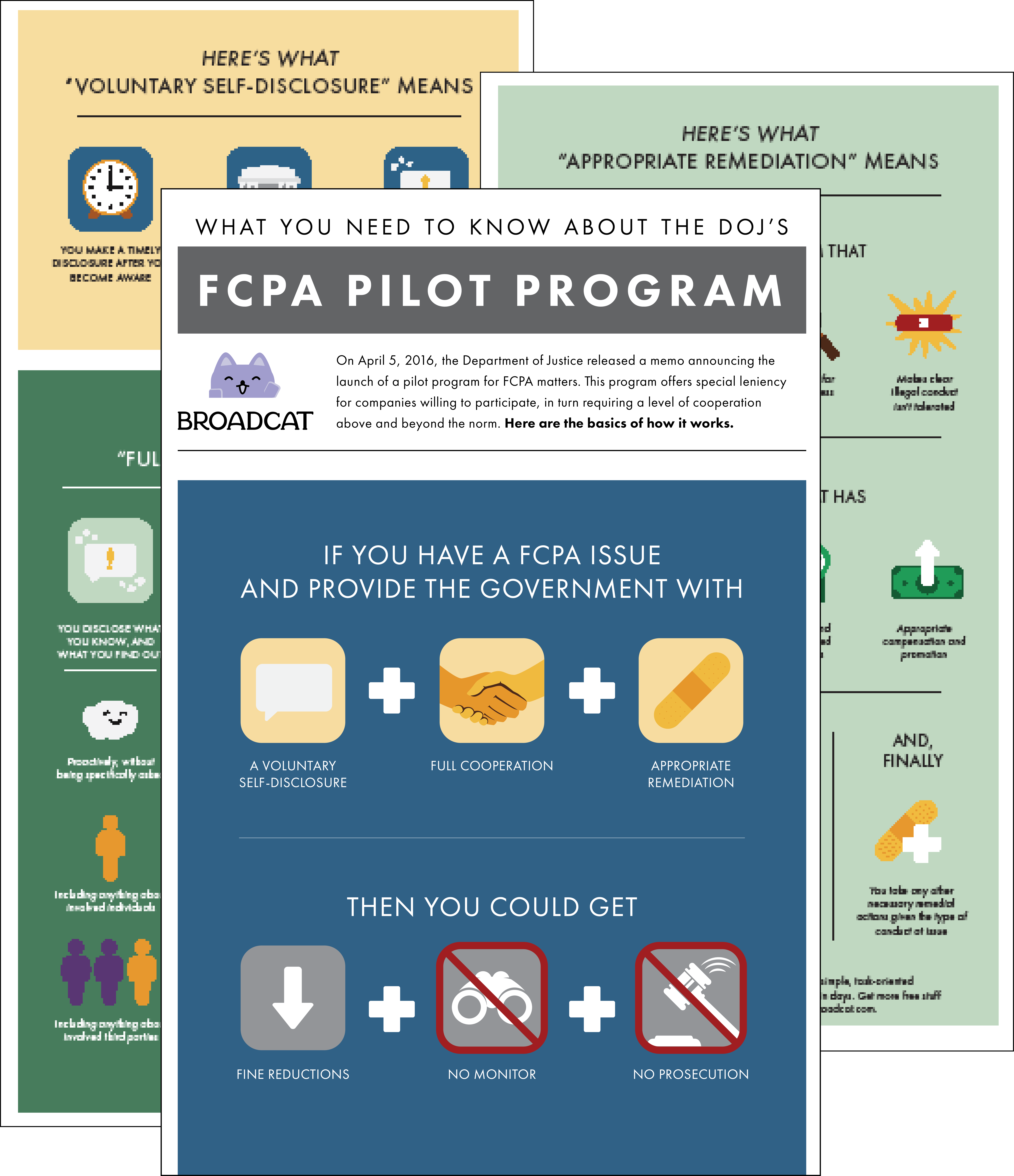 Preview of the FCPA Pilot Program, as clarified by Broadcat. Download it now, for free!