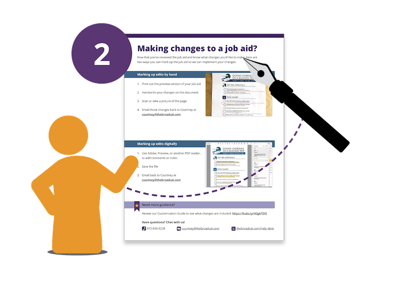 02 - Making Changes to a Job Aid
