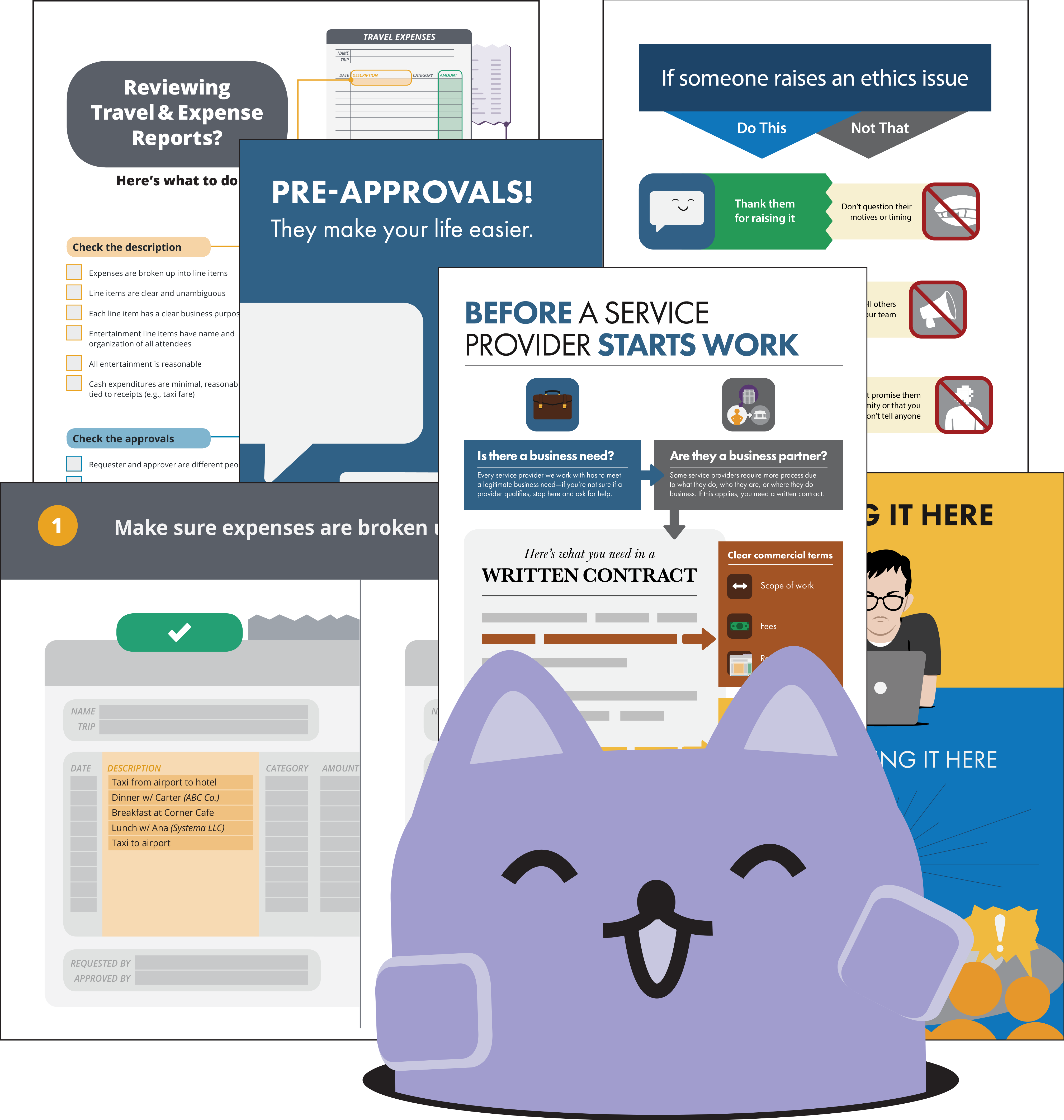 Broadcat, with a collection of checklists, guides and other simple compliance training.