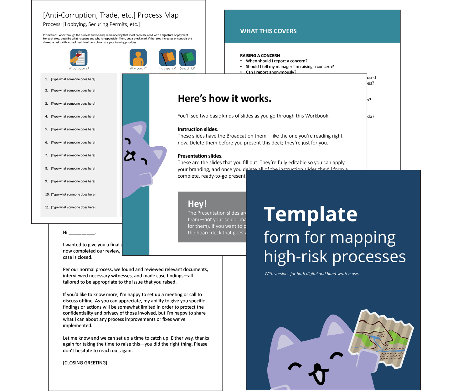 Some simple how-to guides for compliance, created by Broadcat.
