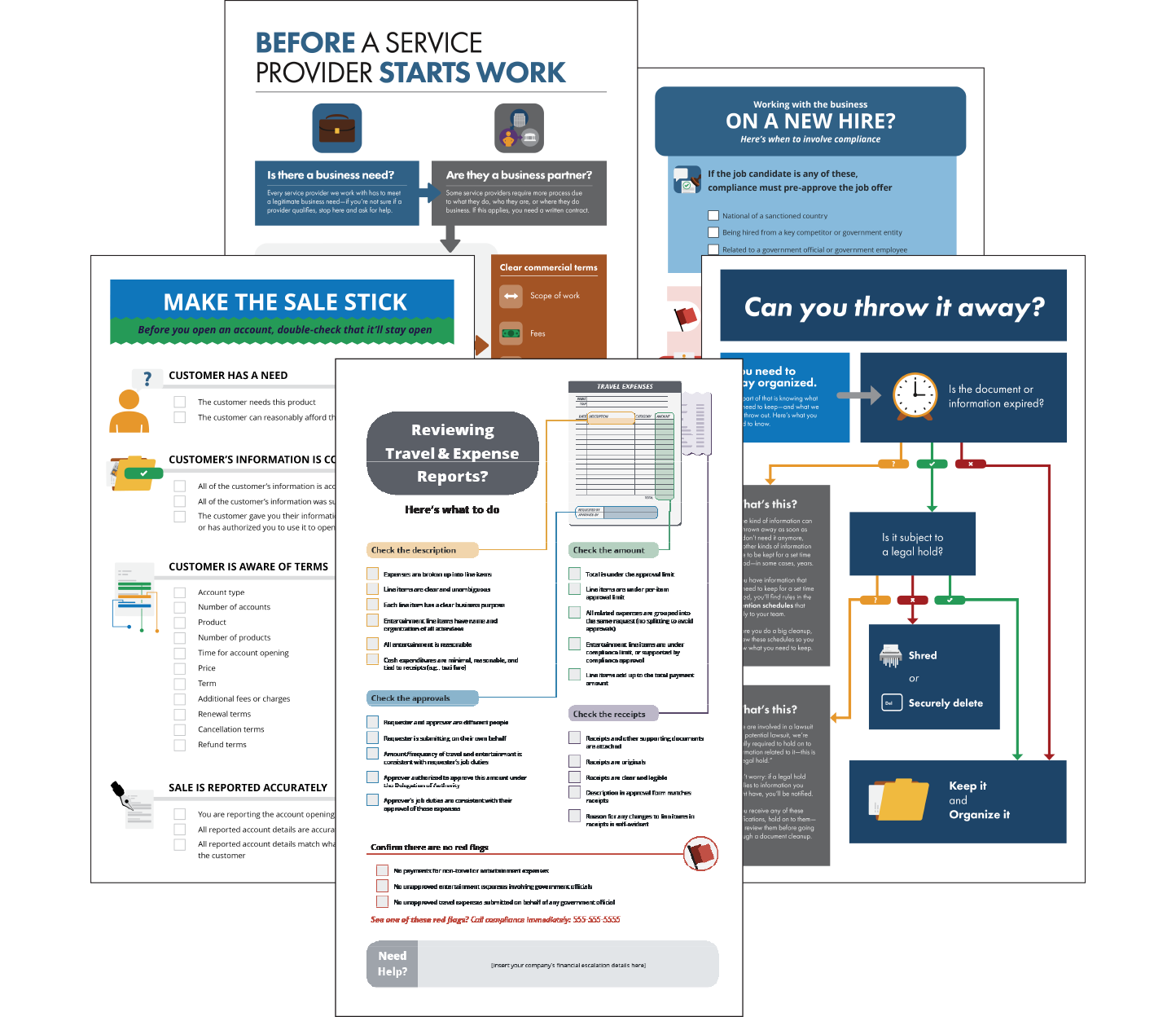 Task-based checklists and flowcharts, from Broadcat.