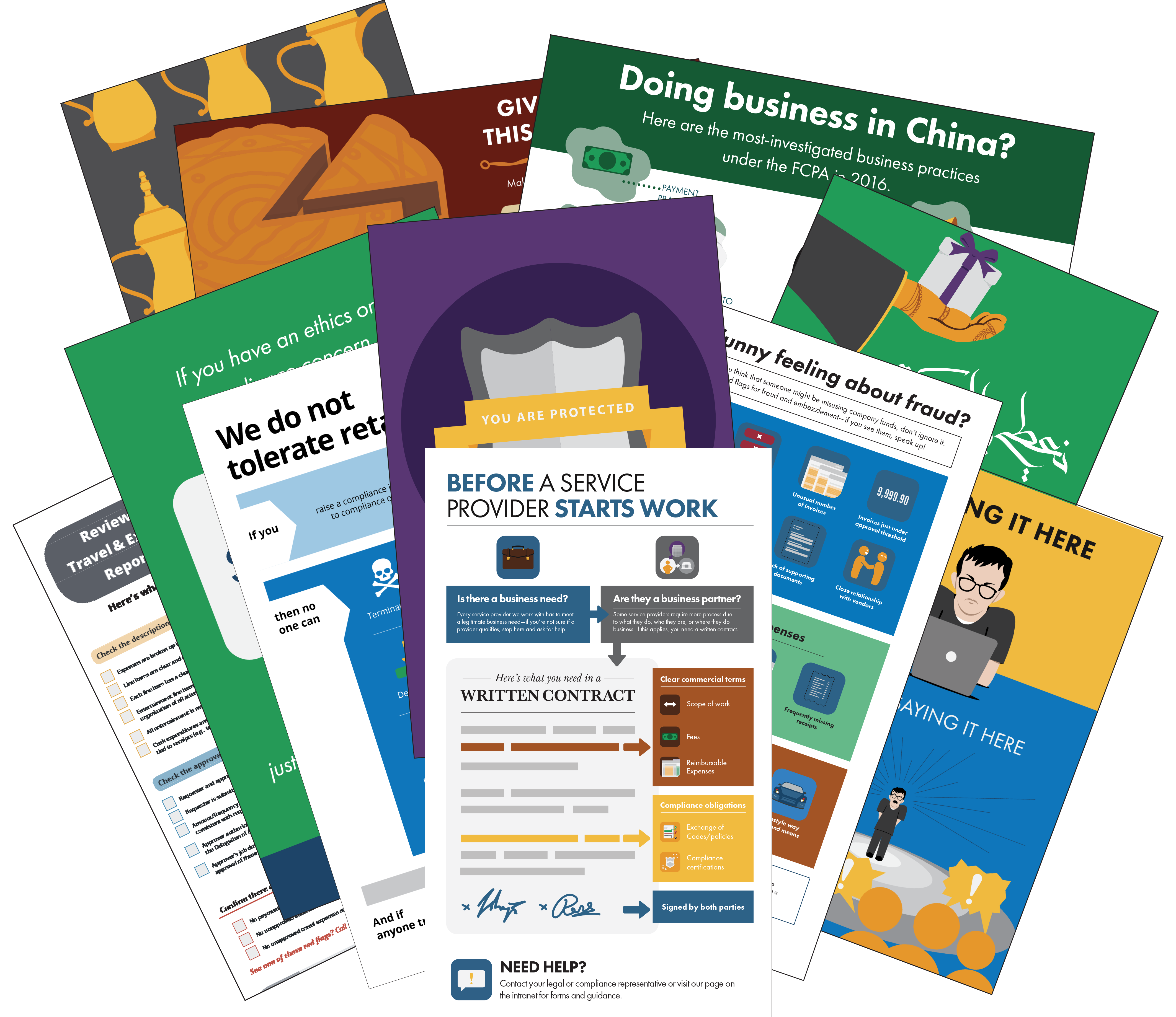 Collection of checklists, posters, modules and other pieces in Broadcat's library.